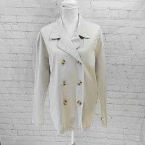 NY&CO Lightweight Peacoat Jacket | Khaki